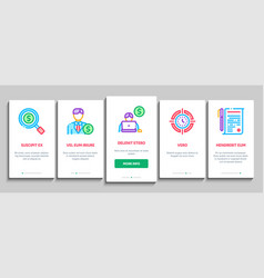 Investor financial onboarding elements icons set vector