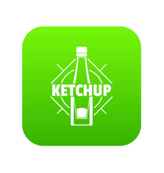 ketchup icon green vector image