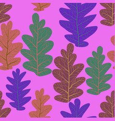 lilac background leaves pattern vector image