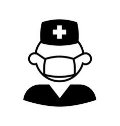 male nurse icon vector image