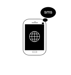 mobile phone with message icon vector image
