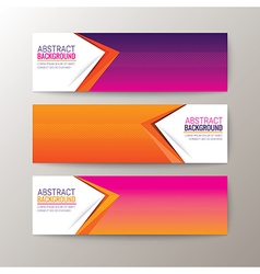 Modern abstract design banners template vector