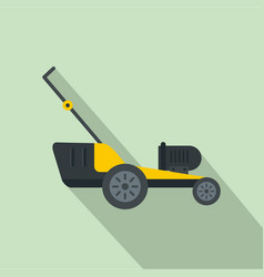 Motor grass cutter icon flat style vector