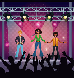 music concert stage vector image