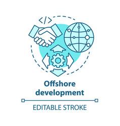 Offshore development concept icon recruiting vector