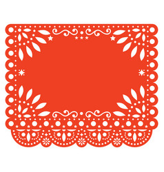 Papel picado floral template design vector