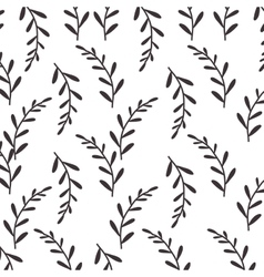Pattern silhouette stems with few leaves vector