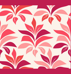 pattern with red poinsettia vector image