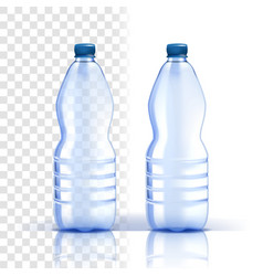 plastic bottle clear product bluer vector image