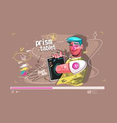 prism tablet vector image