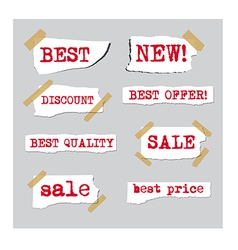 promotion sale labels vector image