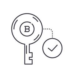 Public key icon linear isolated vector