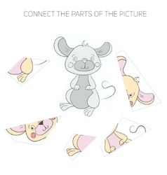 Puzzle game for children mouse vector image
