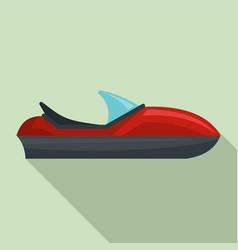 Race jet ski icon flat style vector