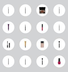 Realistic make-up product powder blush contour vector