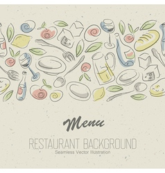 restaurant menu elegant vector image