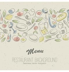 restaurant menu elegant vector image vector image