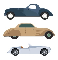 Retro car vector image