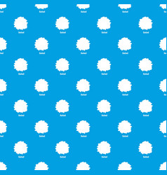 salad pattern seamless blue vector image