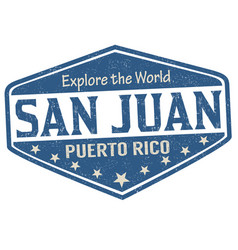 san juan sign or stamp vector image