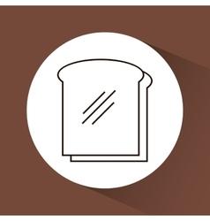 Sandwich food delicious vector
