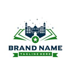 school building logo design vector image