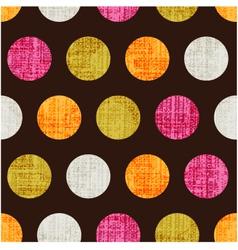 seamless colorful textured polka dots vector image