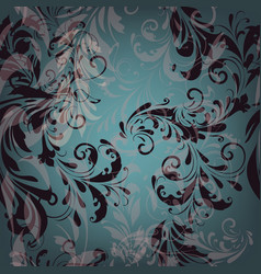 Seamless pattern for wallpaper design with florals vector