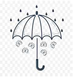 Silhouette of an umbrella vector