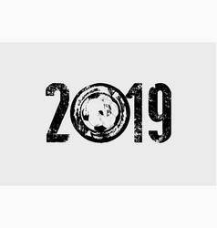soccer 2019 typographical vintage grunge poster vector image