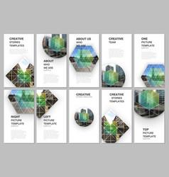 social networks stories design vertical banner vector image
