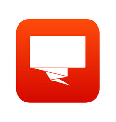 Square banner icon digital red vector