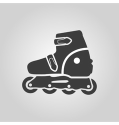 The roller skate icon skates symbol flat vector