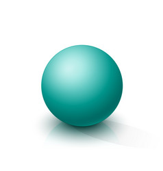 turquoise sphere vector image