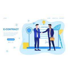 Two men shaking hands vector