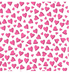 valentines day background hand drawn hearts vector image