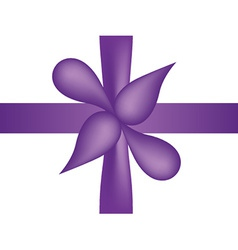 Violet bow and tape vector