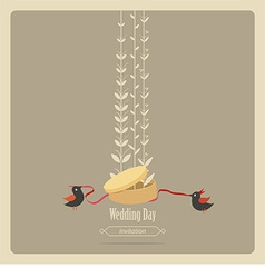 wedding invitation greeting card vector image