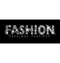 white diamond fashion text vector image