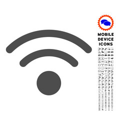 Wi-fi icon with set vector