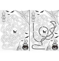 Witch maze vector