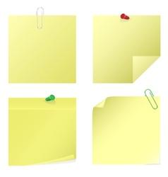 Yellow notice stickers vector
