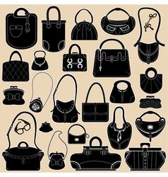 bag black set 380 vector image