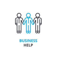 business help concept outline icon linear sign vector image vector image