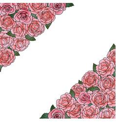 camellia angular composition vector image
