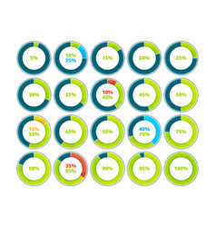 charts and pie graphs infographics vector image