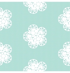 Flower lace seamless pattern net vector image vector image