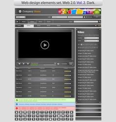 web design elements set black 2 vector vector image