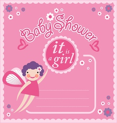 Baby shower party invitation card vector