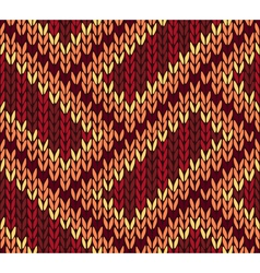 Ethnic Knitted Seamless Background vector image